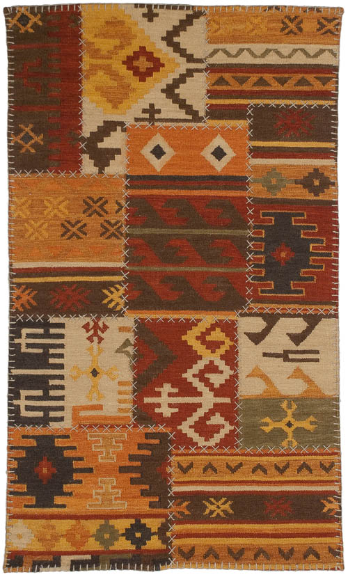 3x 5 Patchwork Design Rug
