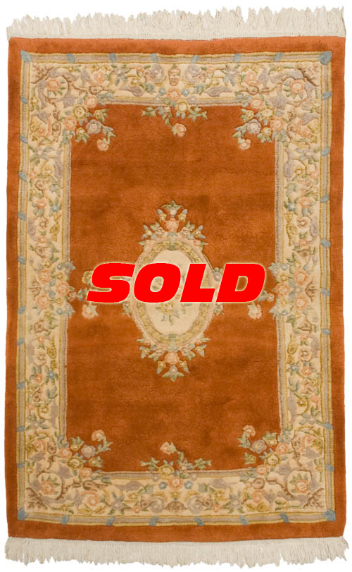 4x6 Aubusson Design Rug