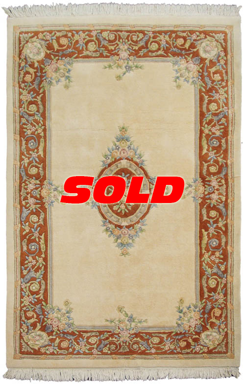 6x9 Aubusson Design Rug
