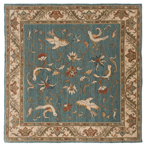 6x6 Bird Design Square Rug