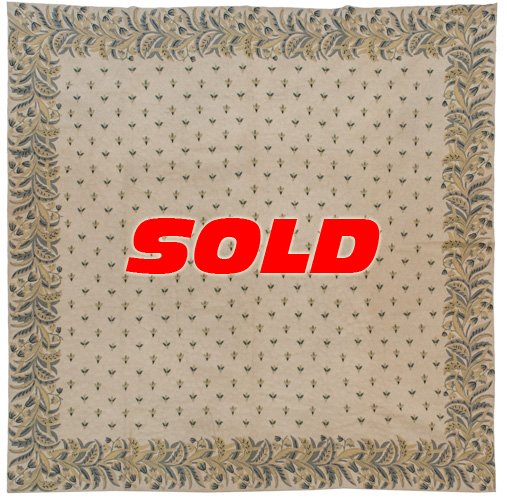 9x 9 Vintage Chain Stitch Square Rug – SOLD