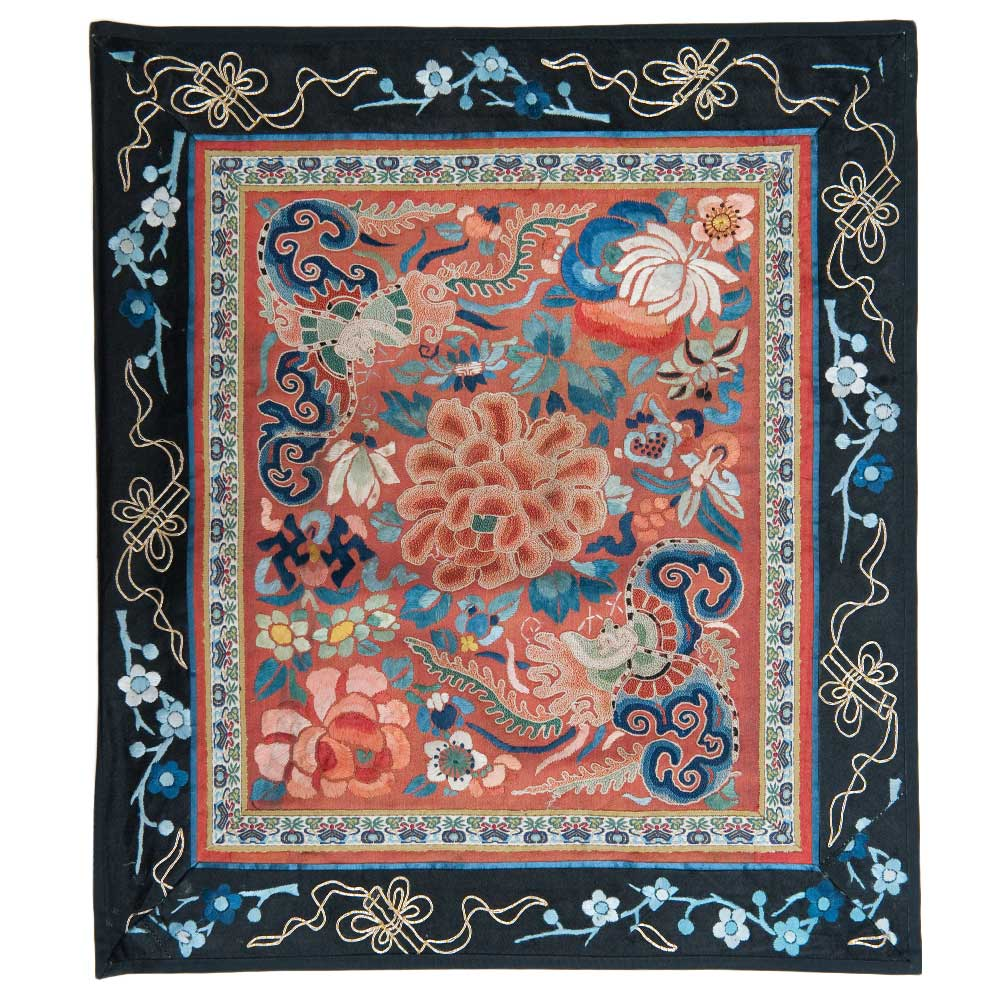 Antique Chinese Silk Embroidery 0876