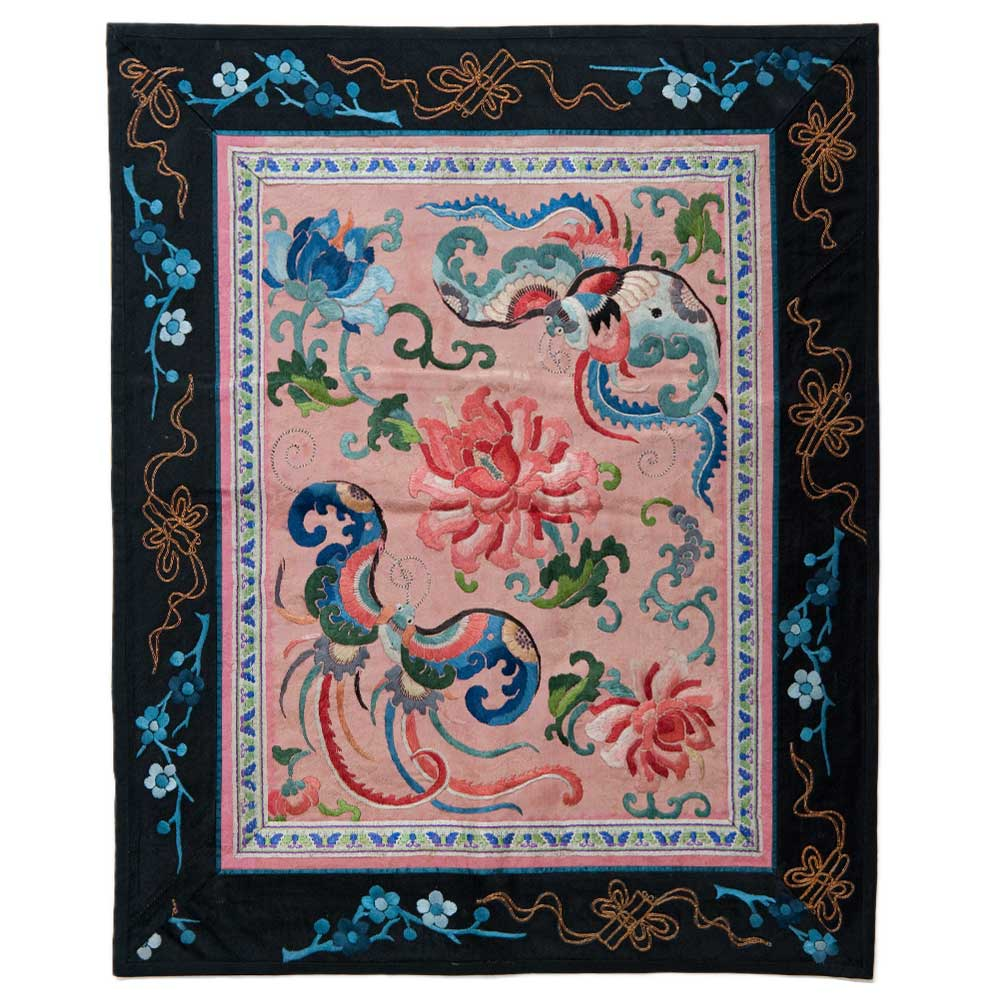 Antique Chinese Silk Embroidery 0903