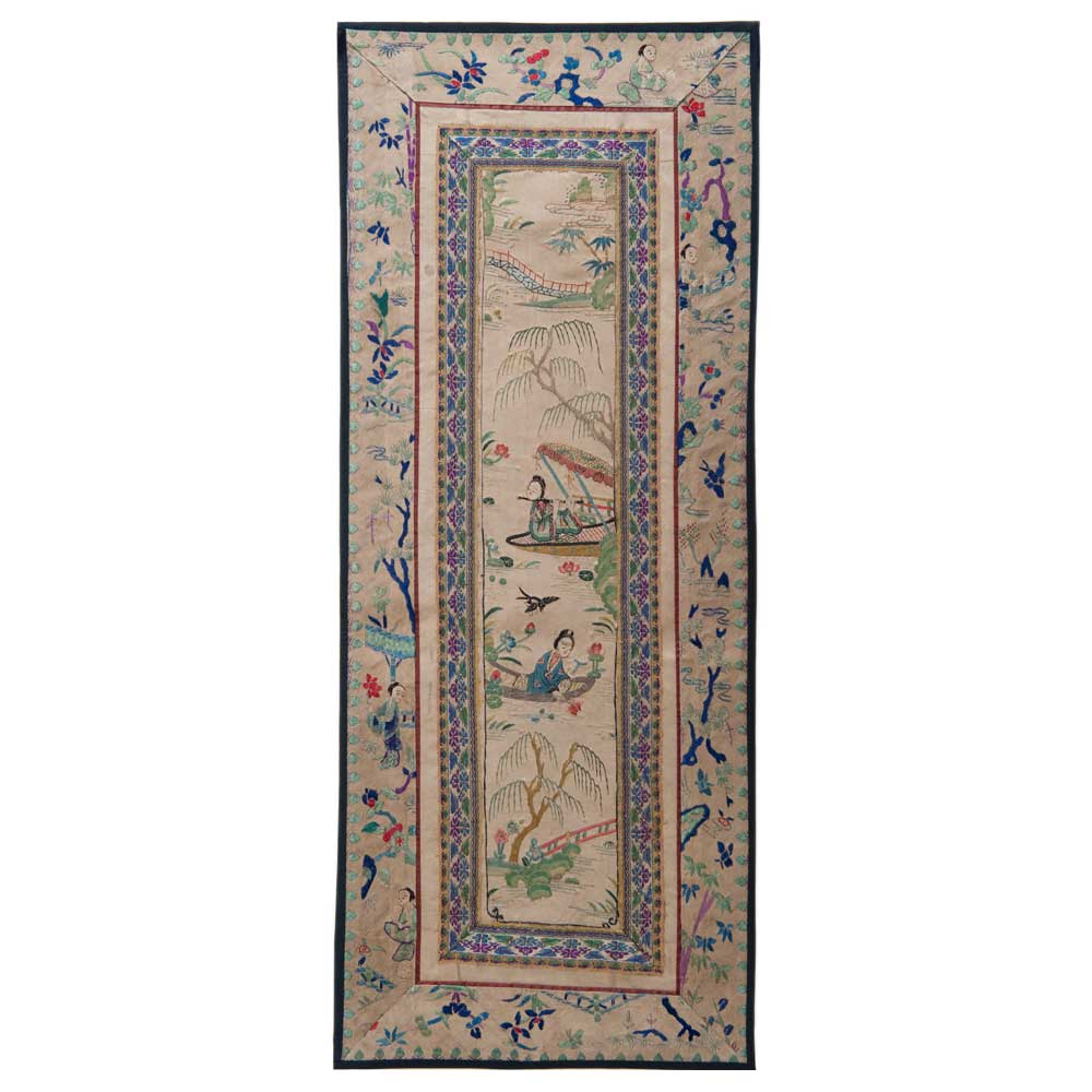 Antique Chinese Silk Embroidery 0931