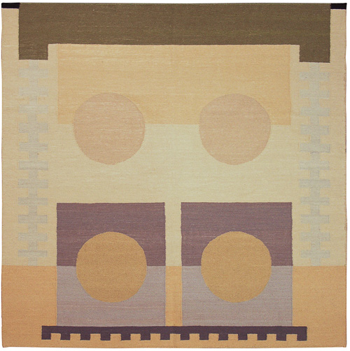 6x6 Modern Dhurrie Square Rug