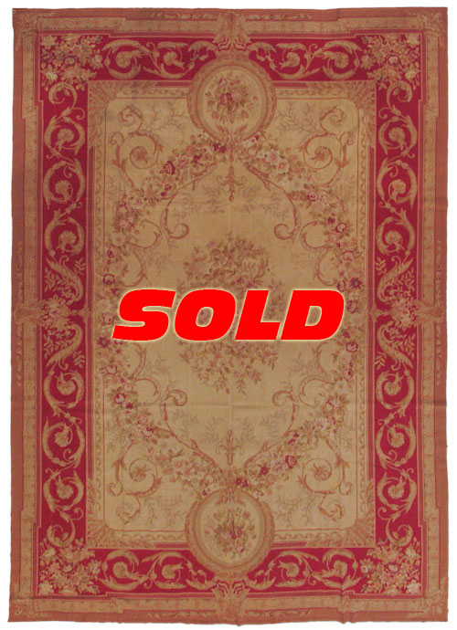 10x14 Fine Antique Design Needlepoint Rug