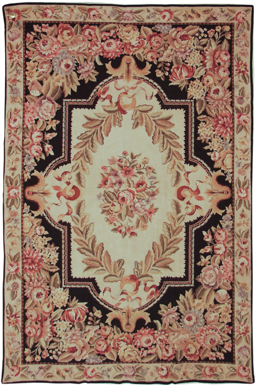 6x9  Fine Antique Design Needlepoint Rug